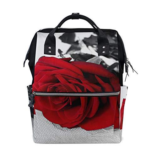 Sac à dos à langer pour maman Motif roses rouges
