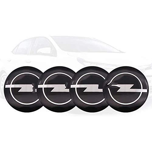 Coche Centro Tapacubosm,para Opel Astra H G J Corsa Insignia Antara Car Centrales Tapones Impermeable Polvo Rueda Accesorios Ornamentales 4 Pieza Hubcap Decorativo Autopartes