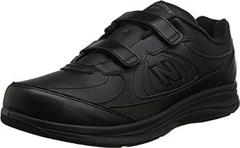 New Balance Men s 577 V1 Hook and Loop Walking Shoe Black/Black 11 XW US