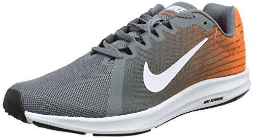 Nike Downshifter 8, Baskets Homme, Gris (Cool Grey/White-Hyper Rouge Crimson-Dark Grey 003),...