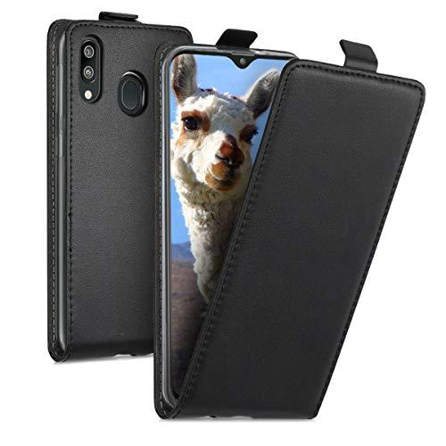 kwmobile Schutzhülle kompatibel mit Samsung Galaxy M20 (2019) - Hülle Handy - Flip Hülle Handyhülle Schwarz