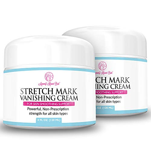 2Pack Stretch Mark Cream for Pregnancy & Scar Removal - 100% Retinol Free - Mommy Knows Best Maternity Stretch Marks Cream Removal Treatment with Cocoa and Shea Butter - 4 fl oz