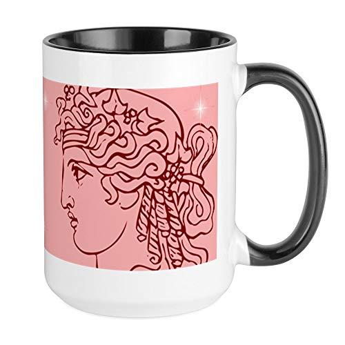 CafePress - Große Tasse mit griechischen Göttinnen und Göttin (rot/pink), 425 ml, weiße Kaffeetasse