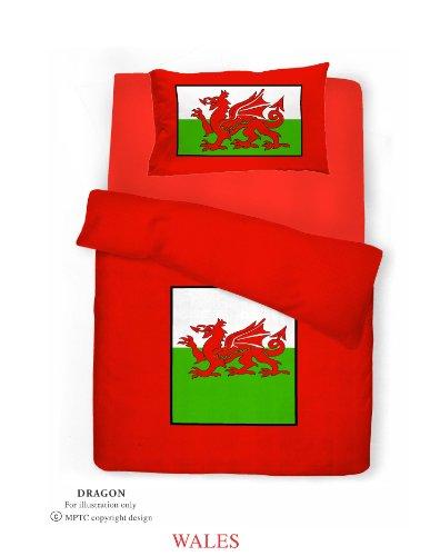 Velosso King Size Welsh Dragon Duvet/Quilt Cover Quality Bedding Set