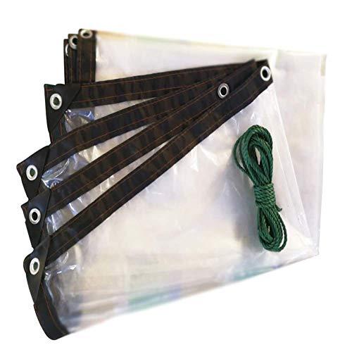Busirsiz Lona de aislamiento impermeable anticongelante a prueba de viento a prueba de polvo transparente al aire libre, 0,12 mm fácil de instalar, adecuado para exteriores, senderismo y