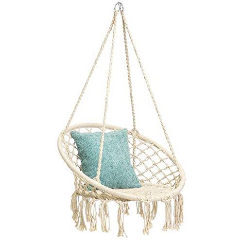 Mertonzo Hammock Swing Chair for 2-16 Years Old Kids,Handmade Knitted Macrame Hanging Swing Chair...