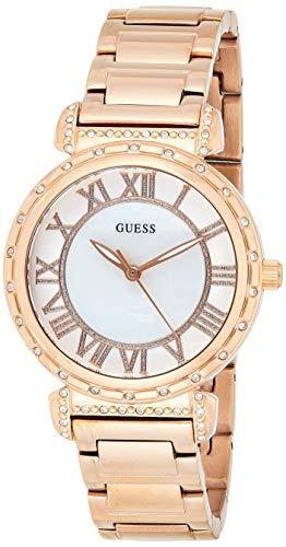 Guess - W0831L2 - Montre - Mixte - Quartz - Analogique Classique - Cadran - Nacre - Bracelet - Acier Inoxydable - Or Rose