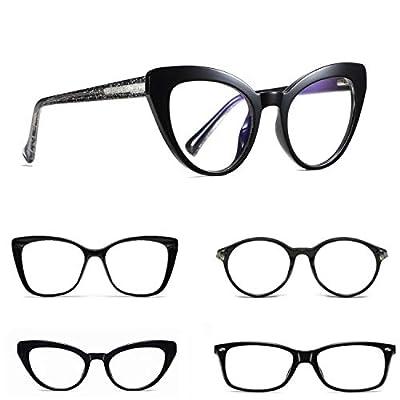 Blue Light Blocking Glasses for Women, Black Mu...