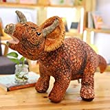 ThuyDM Shop Dinosaur Plush Gigantspinosaurus Triceratops Rex Stegosaurus Seismosaurus Assorted Dinosaur Stuffed Plush Doll Dino Soft Toy Collection-Triceratops-L