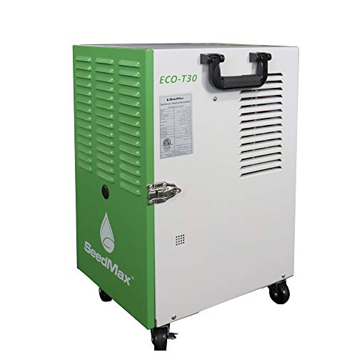 SeedMax 72 Pints Greenhouse Steel Portable Industrial Commercial Dehumidifier With Drain Hose for Warehouse, Water Damage Restoration