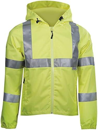 DBlade Hi Visibility Work Wear Rain Jacket - Yellow