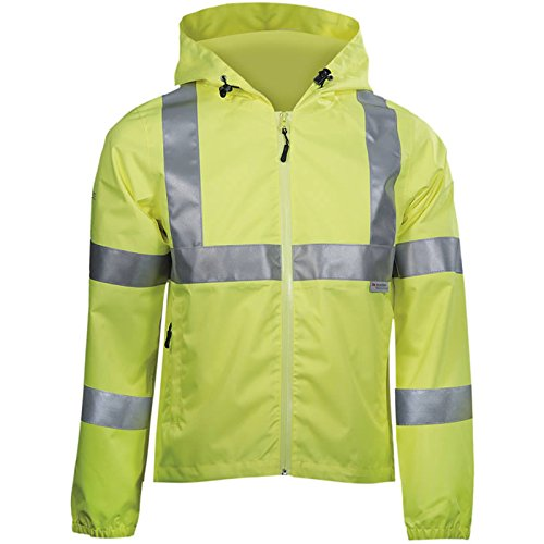 DBlade Warnschutz Regenjacke, 1 Stück, XL, warngelb, W110002 8010 11