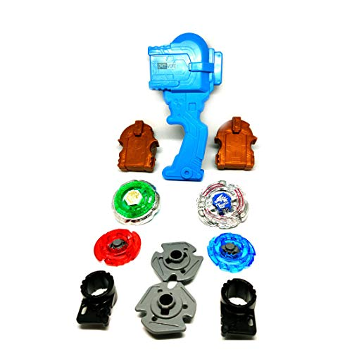 ONCEMORE Toys 4 in 1 Beyblades Metal Fighter Fury with Metal Fight Ring and Handle Launcher