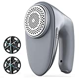 Bymore Fabric Shaver, Sweater Shaver for Clothes,2021 Upgraded Electric Lint Remover with 6-Leaf Blades (Efficient Work with Anti-Size 65mm Mesh& 2 Blades Extra)