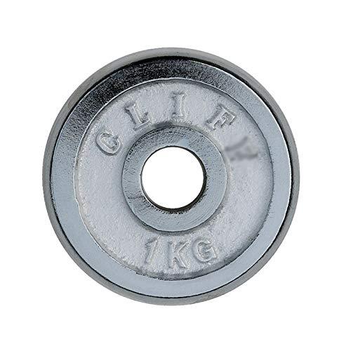 Discos para pesas Placa de agarre de 1 pulgada de Barbell, placas de plata de placas de placa de peso fraccionante Placas de peso micro para barra o mancuerna, juego de 2, 2 kg-6kg discos de pesas