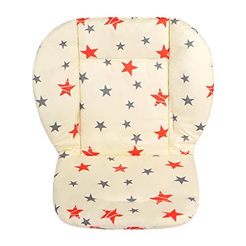 Toyvian Cojín Reductor Universal de Algodón para Silla de Coche de Paseo del Carro Cubierta del Asiento del Niño (Estrella Gris de Cinco Puntas)