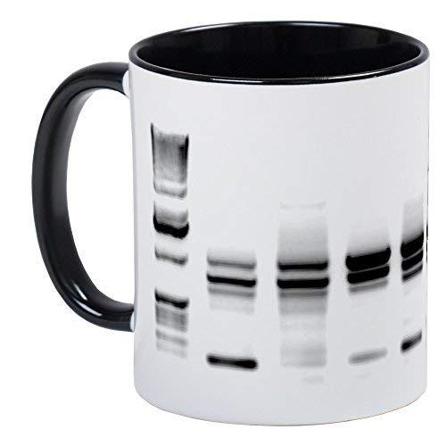Taza de café con diseño de ADN Gel B W