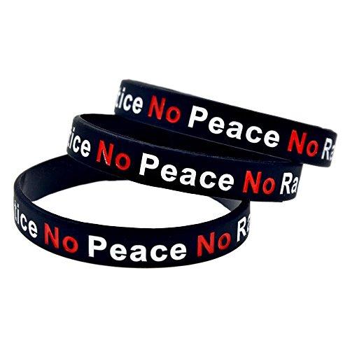 North King Silikon-Armbänder mit Sprüchen Keine Gerechtigkeit keinen Frieden kein Rassist Polizei Kautschuk-Armbänder für Männer, Legen Sie zu den Stücken