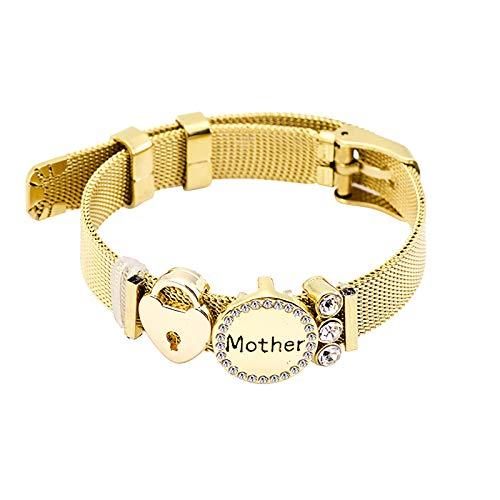 Watopi 1PC Mum Gift Bracelet for Women Lady Mothers Day Gift from Daughter Son Women Fashion Bracelet,Thanksgiving Gift for Mum