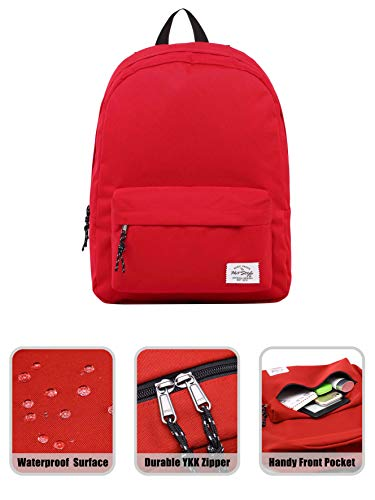 41HKtIbnyML - Hotstyle SIMPLAY Mochila Escolar Clásico, 44x30x12,5cm, Rojo, con Estuche