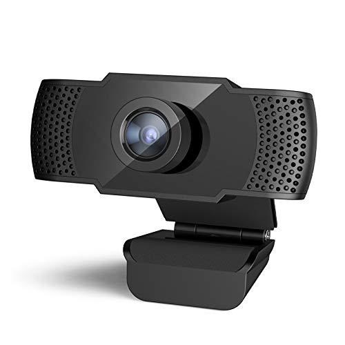 SIXTHGU Webcam 1080P HD Webcam PC Skype Kamera, Web Cam mit Mikrofon, Videoanruf und Aufzeichnung für Computer Laptop Desktop, Plug & Play USB Kamera für YouTube, kompatibel mit Windows