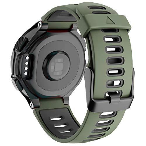 Correa de repuesto ajustable de silicona suave compatible con Forerunner 735XT 220 230 235 620 630 bandas para reloj inteligente Garmin