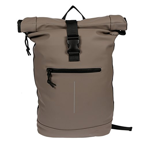 Christian Wippermann Rucksack Courier A4 Roll Up Kurierrucksack Plane Taupe