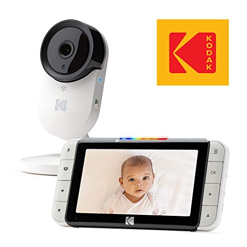 "KODAK Cherish C520 Video Baby Monitor — 5"" HD Screen & Mobile App, Hi-res Camera, Remote Zoom, Two-Way Audio, Night-Vision, Long Range and WiFi Monitors"