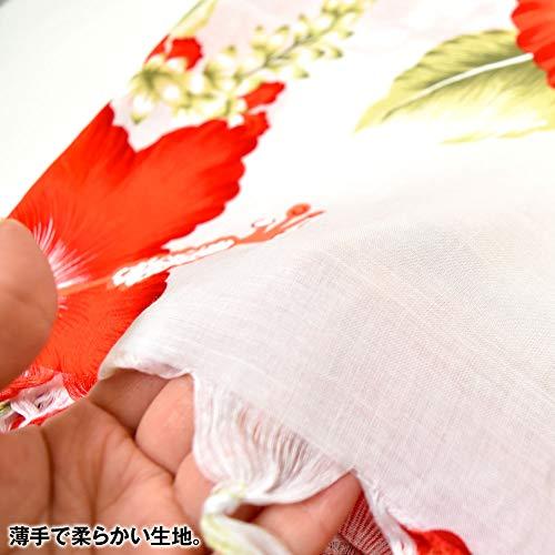 DFギャラリーパレオフラダンス衣装フリンジ長方形ハイビスカス柄薄手柄白T94208フリーA(チェリーxホワイト)