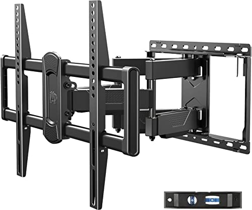 Mounting Dream Full Motion TV Wall Mount Swivel and Tilt for Most 42-75 Inch Flat Screen TVs, TV Mount Bracket with Articulating Dual Arms, Max VESA 600x400mm, 100 lbs. Loading, Fits 16 Studs, MD2617