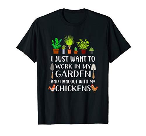 Chicken lover funny gardening shirt for men women, Gardener T-Shirt