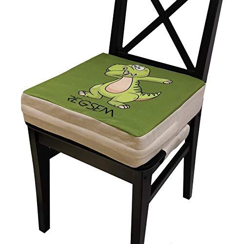 Rialzo Sedia Per Bambini Alzasedia 2° Generazione Alzatina Bimbi Cuscino Alzabimbo X Tavolo Bambino Portatile Alzata Bimbo Alzatine Sedie Seduta Rialzata Riduttore Altezza Alza Sedile (Dinosauro)