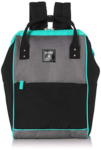 Anello Grande Rucksack GU-B3012 SP Lightweight Water-Repellent Mouthpiece Backpack Small A4 Size Items Can Be Stored (Black)