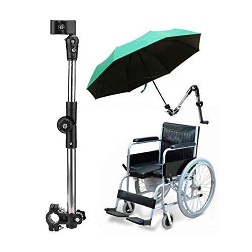 Universelle Sonnenschutzabdeckung für elektrische Motorräder, verstellbarer Regenschirmhalter für den Außenbereich, Halter für den Regenschirmanschluss, für Rollstühle, Walker, Rollator, Fahrrad, Kin