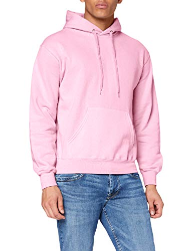 Fruit of the Loom SS026M, Sudadera con capucha y cremallera Para Hombre, Rosa (Light Pink), Large