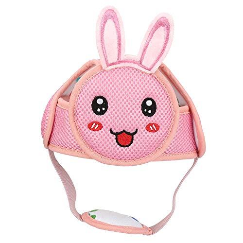 Baby Anti Kollisions Hut Baby Kleinkind Kopfhut Leichter Klett Schutzhelm Kopfschutz Schutzhelm für Baby Lernen zu Gehen(Rosa Kaninchen)