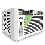 J.W. Aire acondicionado para ventana, botón de control remoto, enfriamiento único, 2500 BTU, deshumidificación, 220 V, color blanco