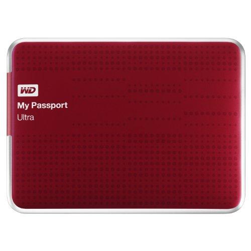 WD My Passport Ultra externe Festplatte 1TB (6,4 cm (2,5 Zoll), USB 3.0) rot