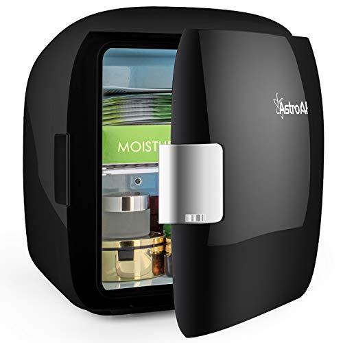 AstroAI Mini Refrigerador Portátil para el Skincare 9L, Mini Neveras 220V/12V para Enfriar y Calentar (negro)