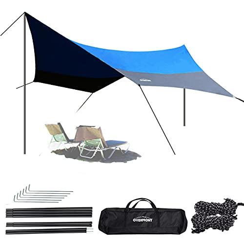 OVERMONT 5m x 5m Sonnensegel Camping...