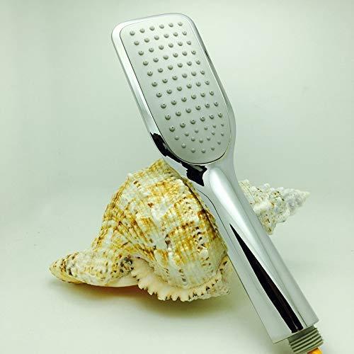 KANJJ-YU Ducha cabeza de ducha ahorro de agua ABS cromo Booster ducha mano ducha baño