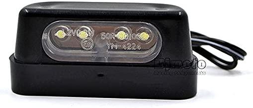 BJ Global Lampe de plaque dimmatriculation Moto Universel 12V 0.2W Plastique Haute Qualit/é avec Emark Noir