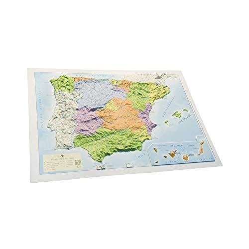 Mapa en relieve España político: Escala 1:3.500.000