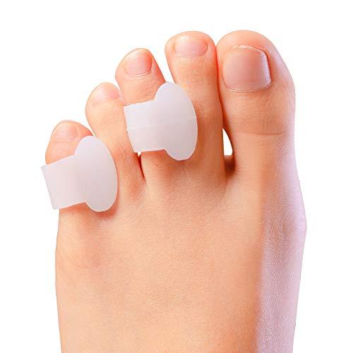 Sumiwish Gel Zehenspreizer Kleiner Zeh, [10x] Zehentrenner Silikon, Zehenstrecker für überlappende Zehen, Relief Kleiner Zehen Druck und Schmerzen