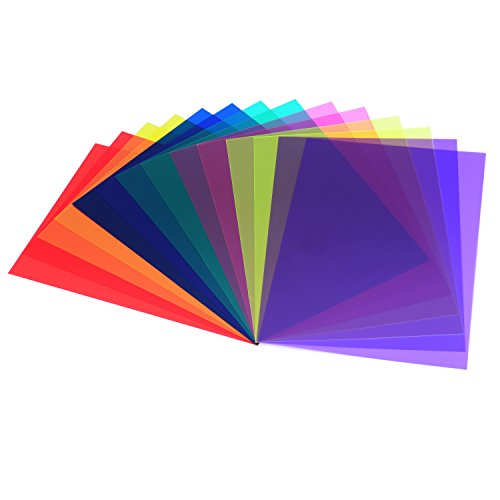 14 Stücke Korrektur Gel Filter Overlays Transparenz Farbe Film Kunststoffplatten Gel Beleuchtung Filter, 7