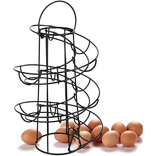 WZMPH Skelter de Huevo Spiraling Dispenser Rack Gran Capacidad - Almacenamiento de Huevos Organizador Pantalla de Pantalla Canasta para la Cocina de encimera Ahorre Espacio