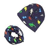 iZiv Bebé Niño Niña Gorras Bebé Niños Bufanda del Algodón Pañuelos con Algódon Suave Sombrero de Punto Unisex 0-2 años