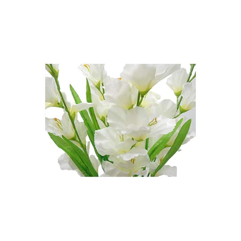 """silk flower arrangements gladiolus bush artificial silk flowers 26"""" bouquet 5-5971 cream"""