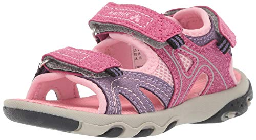 Kamik Girls' Cape Sandal, Pink, 9 M US Toddler