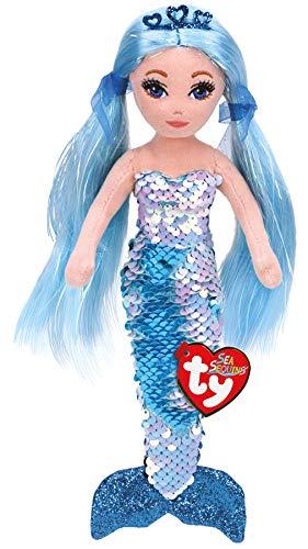 Ty TY02102 Indigo Aqua Sequin Mermaid REG, Multicolored